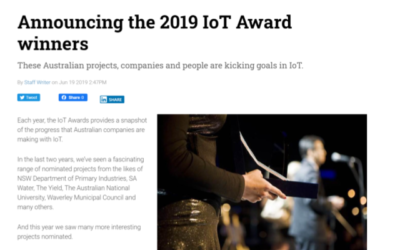 Announcing the 2019 IoT Award winners